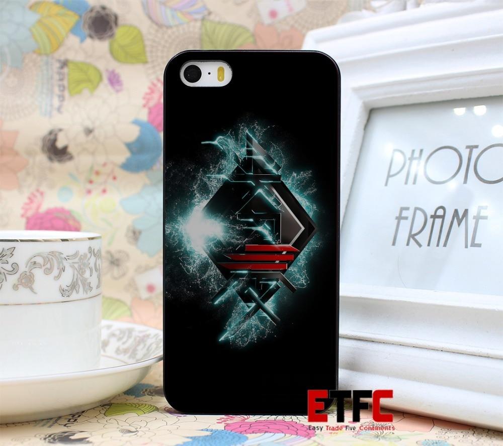 TSLR Cool Band Music Singer Skrillex New Fashion Design Hard Black Skin for iPhone 5 5s 5g Case Cover