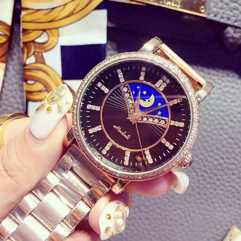 2016 New Fashion Geneva Watch Women Dress Watches Rose gold Full Steel Analog Quartz men Ladies Rhinestone Wrist watches relojes  hot luxury brand geneva fashion men women ladies watches gold stailess steel numerals analog quartz wrist watch for men women
