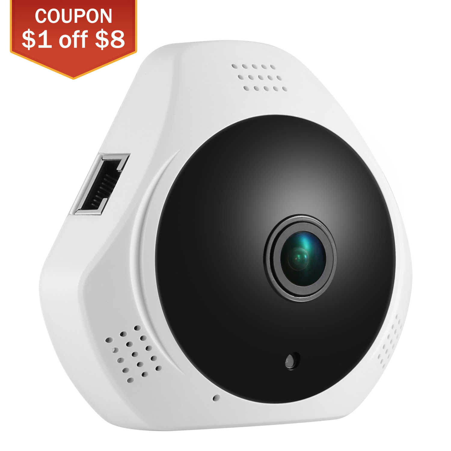 SANNCE 360 Graden Draadloze Panoramische Camera MINI 960 P Network Wifi Fisheye Beveiliging IP Camera WIFI 1.3MP Video Ingebouwde MICROFOON