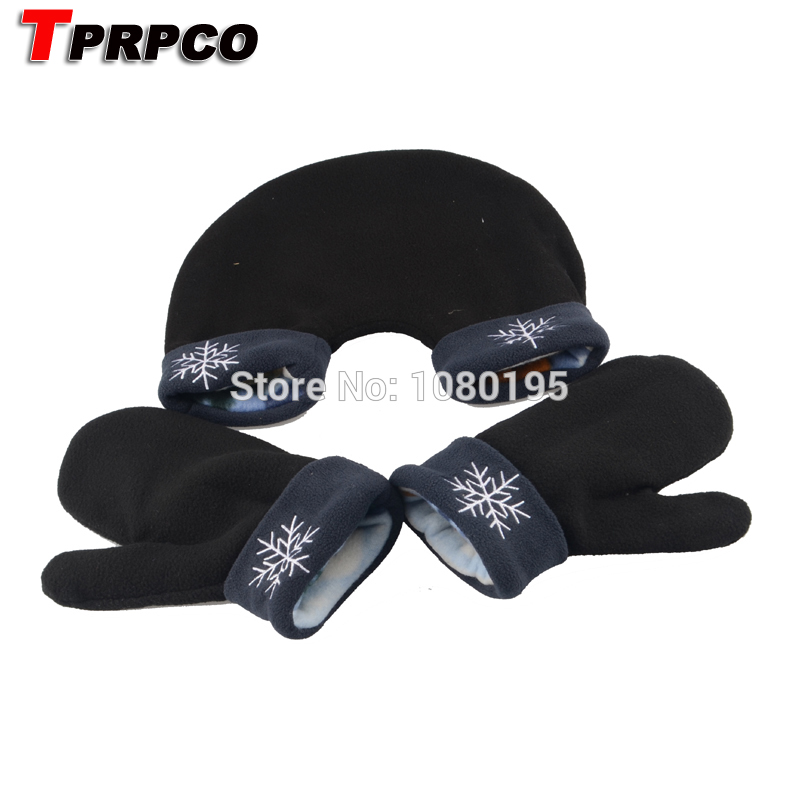 TPRPCO 3pcs/set Polar Fleece Sweethearts Thickening Winter Warm Gloves Sweethearts Christmas Outfit Lovers Mittens NL7181