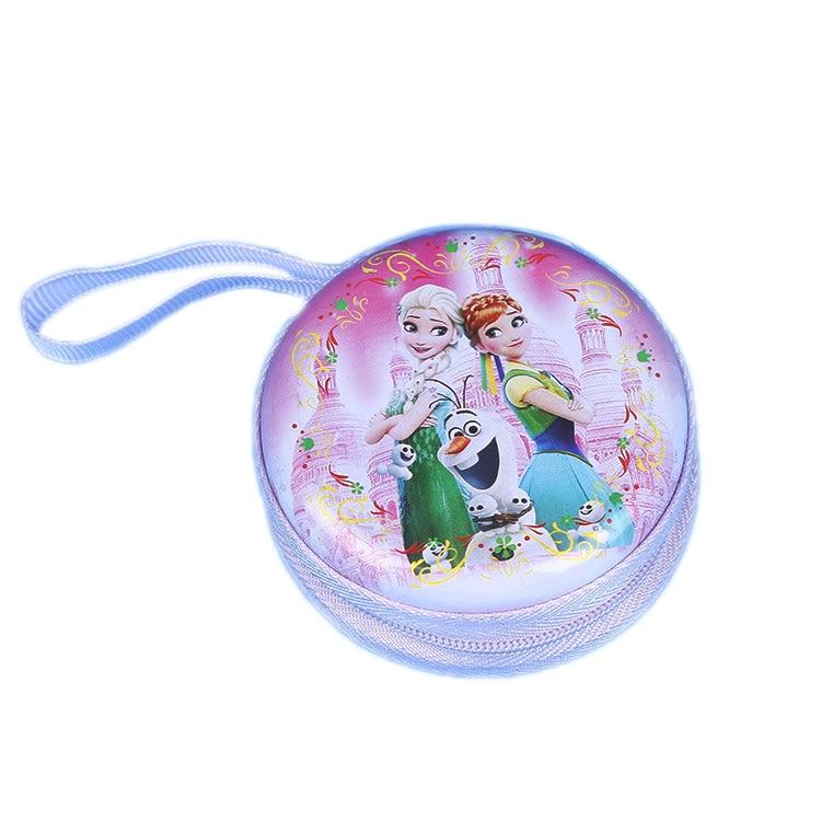 Лидер продаж, кошелек для монет с героями мультфильмов, Эльза, Анна, принцесса, чехол для ключей для девочек, кошелек, детский Снежная королева, гарнитура, сумка для монет - Цвет: H