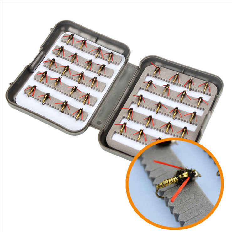Fishing lure professional ABS fly bait 40 / box of insect bionic bait the hook bait road bait lure