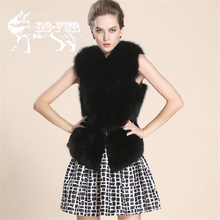 High-Grade Women Real Fox Fur Vest 2015 New Fashion Import Whole-skin Fur Cappa Leisure Shitsuke Waistcoat Woman Coat Fur Gilet
