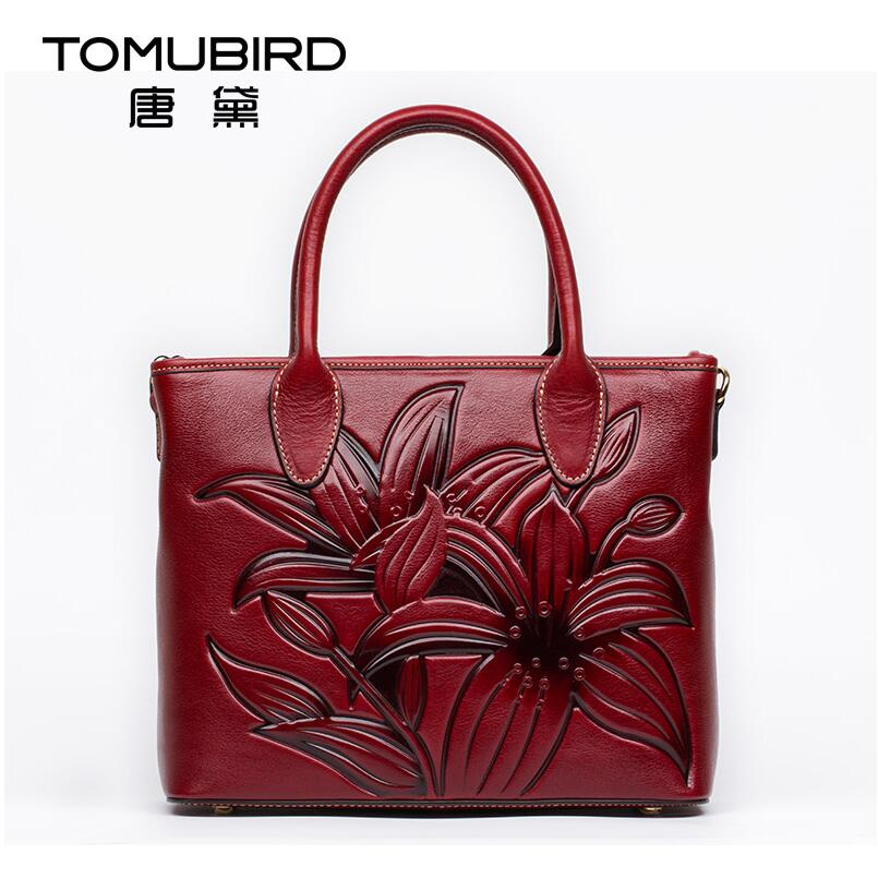 Famous brand top quality Cow Leather women bag  Original national wind upscale handbag Chinese style embossed tote bag original national wind leather ladies handbag 2017 spring of the new chinese wind hand bag woman women s handbags