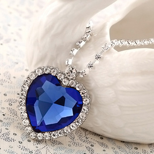 Titanic Heart Ocean Necklaces Fine Jewelry Austrian Crystal Pendant Fashion Women HLJ 151 - dreamfly party balloons store