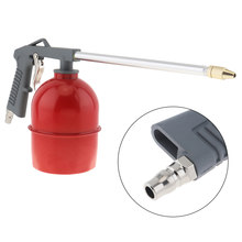 Win Red Pot Type Pneumatic Spray Gun with 6mm Nozzle Caliber and Aluminum Pot for Furniture / Factory Facilities saleoff