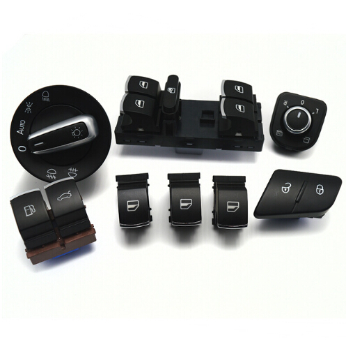 Окна фар зеркало Блокировка / разблокировка багажника и топливного лючка переключатель для VW Пассат Б6 3с 2006-2011 35D959903 3C0962125B 5ND959565A