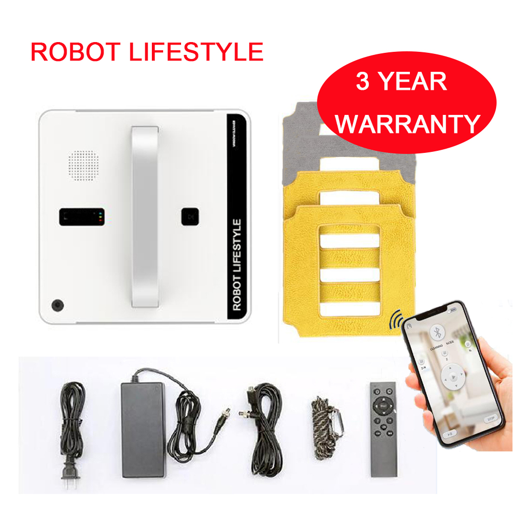 RL880 Robotic Window Cleaner Vacuum Cleaner Smart Planned Type Wifi App Control Window Glass Cleaning Robot 100 240V