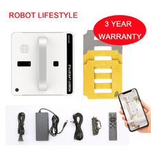 RL880 Robotic Window Cleaner Vacuum Smart Planned Type Wifi App Control Glass Cleaning Robot 100 - 240V
