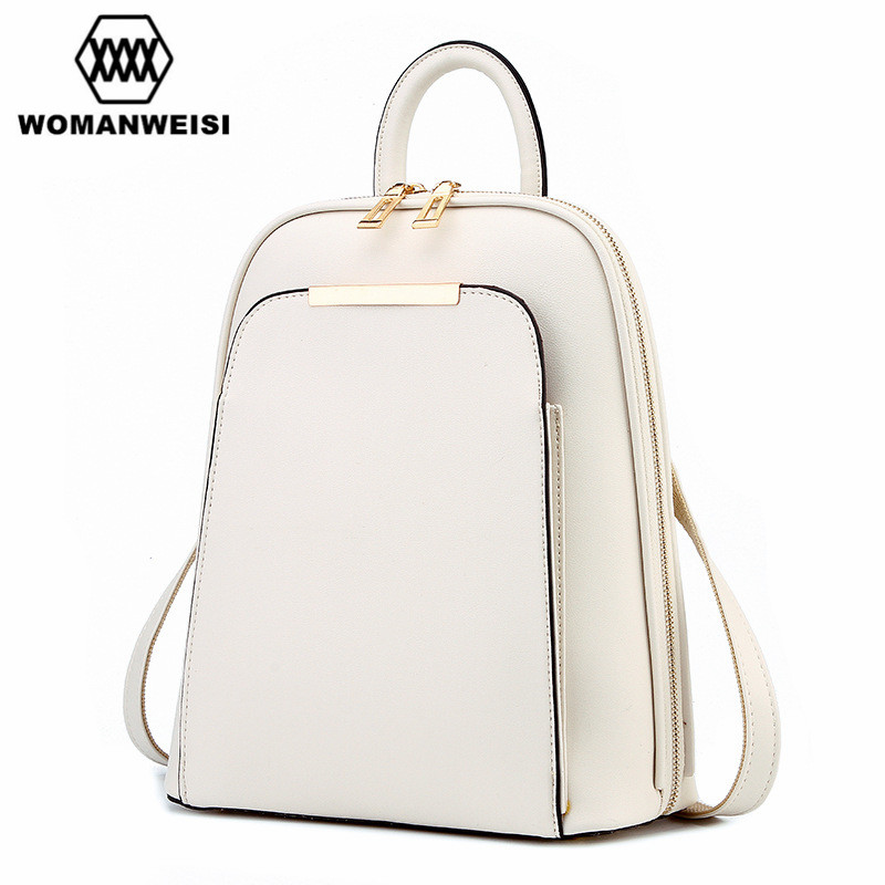 Fashion Simple Style Women Backpacks High Quality Leather School Bags Satchel Brand Design Female Backpack 2018 Rucksack Youth