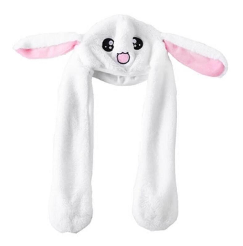 2019 New Cartoon Hats Moving Ears Cute Rabbit Pikachu Toy Hat Airbag Kawaii Funny Hat Cap Kids Plush Toy Christmas Gift