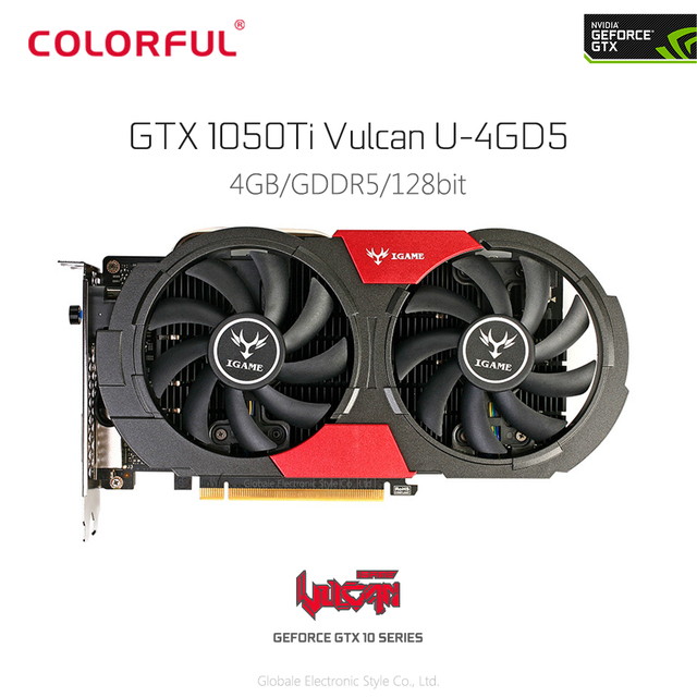 US $184 99 |Orginal Colorful iGame 1050Ti Video Graphics Card 4G 128bit  DDR5 6Pin Support HDMI DVI DP for Computer DIY Gaming PUBG-in Graphics  Cards