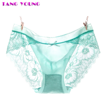 Woman Sexy Transparent Panties Tempting Seamless Lace Underwear Candy Color Brief Ladies Ultra-thin Intimates Underpant HA0296 zebra underwear