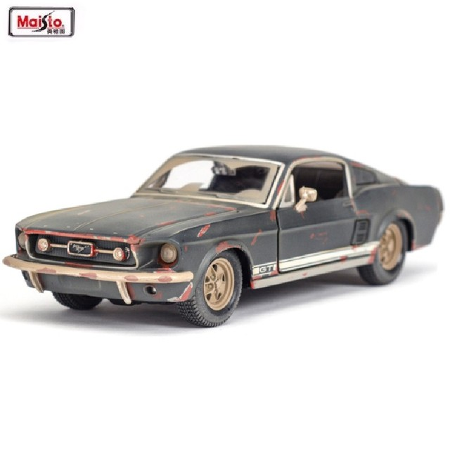 maisto 124 1967 ford mustang gt the old version alloy car model diecast metal