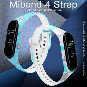 Image 4 - BOORUI sangles interchangeables pour miband 4 dragonne pour Xiaomi mi band 3 sport Bracelet en Silicone pour Xiaomi mi bande 3/4 bandes