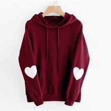 sweatshirt gothic pink tops streetwear hoodies love heart hooded women sweatshirts fashion pullover long sleeve female
