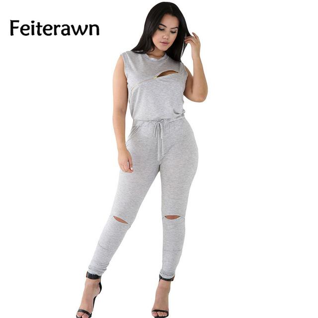 2017 Mulheres macacão feminino comprido casuais Criativo Linha Zip Preto Stretchy Jumpsuit Calças Compridas Romper Macacões DL64055