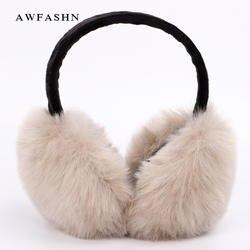 Наушники моды для Для женщин брендовые зимние наушники Обувь на теплом меху ухо теплым Крышка для девочек одноцветное Цвет с милыми ушками