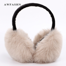 Fashion Earmuffs For Women Brand Winter Warm Fur Ear Warmer Cover Girls Solid Color Cute Soft Plush