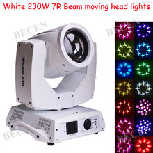 White case 230W 7R beam Moving Head Lights dmx 512 spot beam wash 3in1 for Disco DJ Club Nightclub Party lights(China)