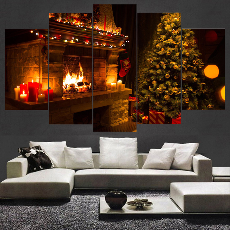 Frame Art Poster Wall Picture Painting Home Decor 5 Panel Christmas Tree  Printed On Canvas For Living Room Modern Printing TypeOnline Get Cheap Christmas Framed Art  Aliexpress com   Alibaba Group. Framed Pictures For Living Room. Home Design Ideas