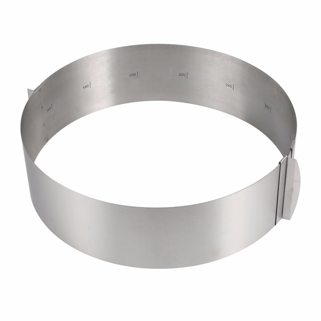 16-30CM Adjustable Stainless Steel Cake Mold Cookie Fondant Mousse Ring Baking Tool Cake Mould Round Cake Decorating Tools  3