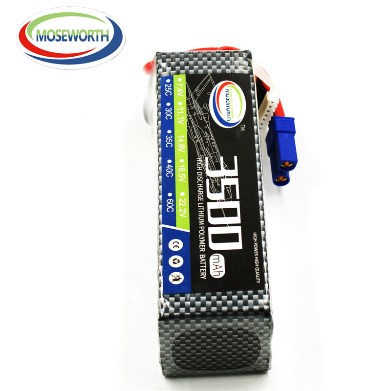 2018 rechargeable RC 5S LiPo Battery power 18.5V 3500mah 40C for rc airplane boat car tank Free shipping MOSEWORTH lipo battery 18 5 v 3500mah 25c 5s for rc airplane free shipping