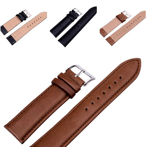 Unisex Fashion Faux Leather Universal Watch Strap Band Replacement Wristband faux leather strap number watch