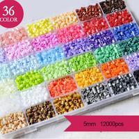 Puzzle Diy Toys 36 Color Hama Perler Beads 10000pcs Box Set of 5mm Hama Beads Fuse Beads Children Goods Educationa Toys