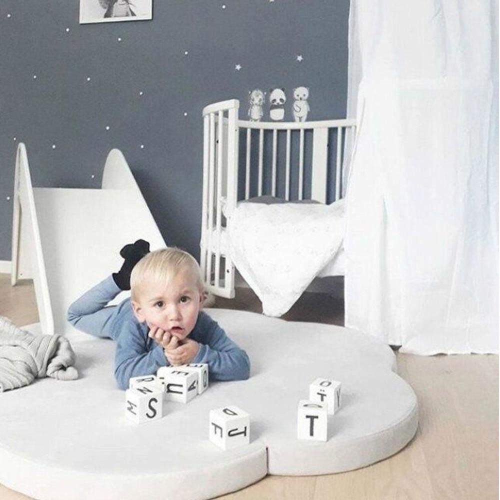 2018 INS nowa przybył chmura mat game crawling koc dzieci sypialnia - Pościel - Zdjęcie 3