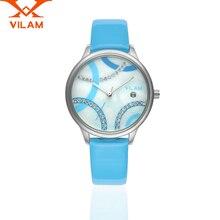 Relogio Masculino VILAM Women Quartz Watch Classical Business Wristwatch Casual Watch Luxury Genuine Leather Strap Quartz-Watch