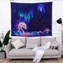 Tapestry beach towel cloth shawl wall hanging bedroom decoration rectangular  cartoon animals style 100%