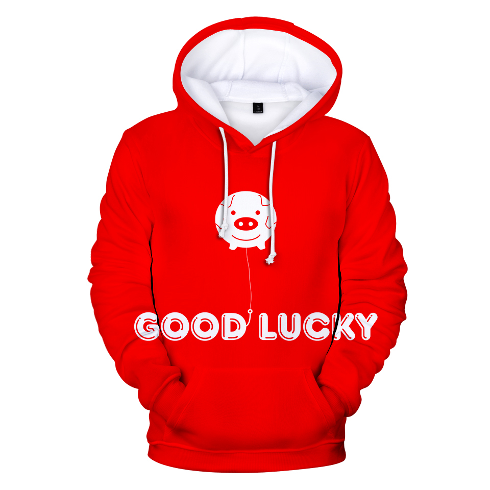 Delicious New Hot Sale Frdun Tommy Good Lucky Pig 3d Lovely Print Hoodies Sweatshirts Male Female Long Sleeve Casual Couple Streetwear Clients First Men's Clothing