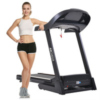 2.25HP Indoor Mute Folding Electric Treadmill Run Training Fitness Machine Home Fitness Training Equipment