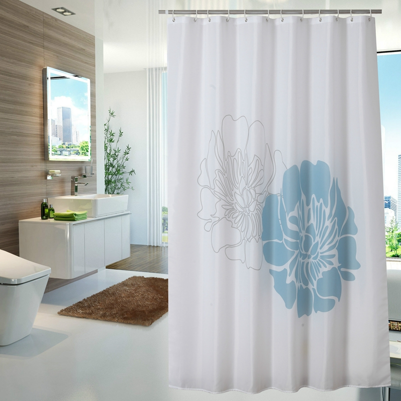 UFRIDAY Vintage Blue White Flower Shower Curtain Waterproof Batheroom Curtain  Floral Bath Curtain Rideau De Douche Bath Screens In Shower Curtains From  Home ...