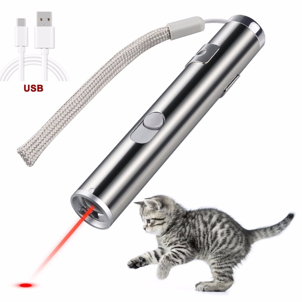 Cat Chaser Toys 2 In 1 Multi Function Funny Cat Chaser Toys Interactive Led Light Training Tools