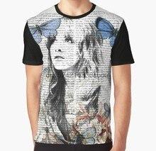 ff0cf0f7 All Over Print Women T Shirt Men Funny tshirt Stevie Nicks Vintage Print  Graphic Women T