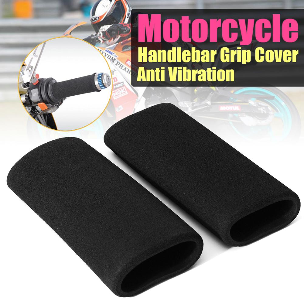 2x Motorbike Handlebar Grip Cover Motorcycle Slip-on Foam Anti Vibration Comfort Hand Grip Cove