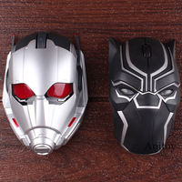Marvel Comics Marvel Toys Black Panther Ant Man Ant Man Bluetooth Wireless Mouse Original Action Figure Led Lighting 4*12cm