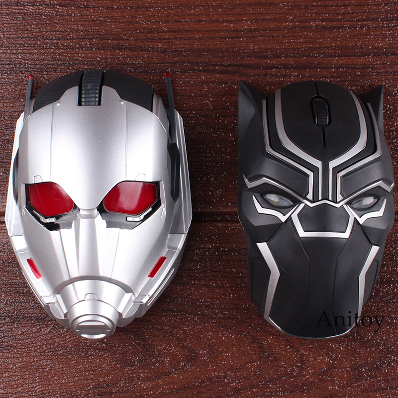 Marvel Comics Marvel Toys Black Panther Ant-Man Ant Man Bluetooth Wireless Mouse Original Action Figure Led Lighting 4*12cm marvel avengers statues ironman ant man thanos black panther action figure home decoration gift ant man antman iron man statue