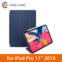 Tablet Case For iPad Pro 11 Inch 2018 Buile-in Magnets Pencil Connection Folding Smart Cover