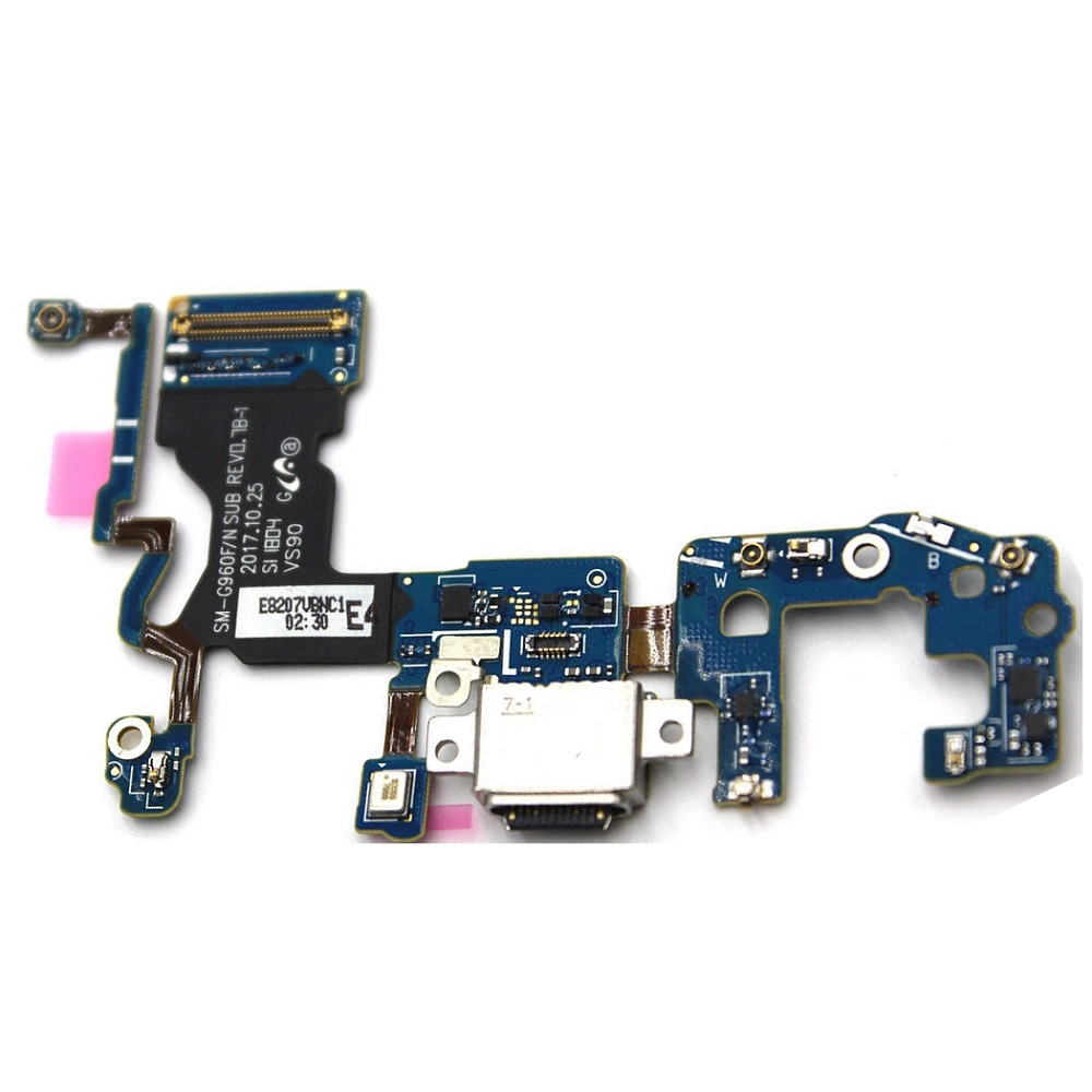 For Samsung Galaxy <font><b>S9</b></font> G960F/N <font><b>G9600</b></font> G960U Charge Charging Port Dock Connector Flex Cable image