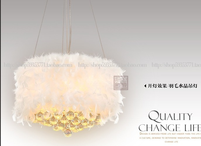 30-60 cm diameter color feather NEW FREE SHIPPING light K9 crystal ball and Pendant Lights bead crystal curtain PENDANT lampsCL 4 circles 20 40 60 80cm k9 crystal