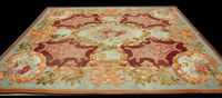 Details About Oversize Square Hand Knotted Thick And Plush French Savonnerie Rug Made To Order