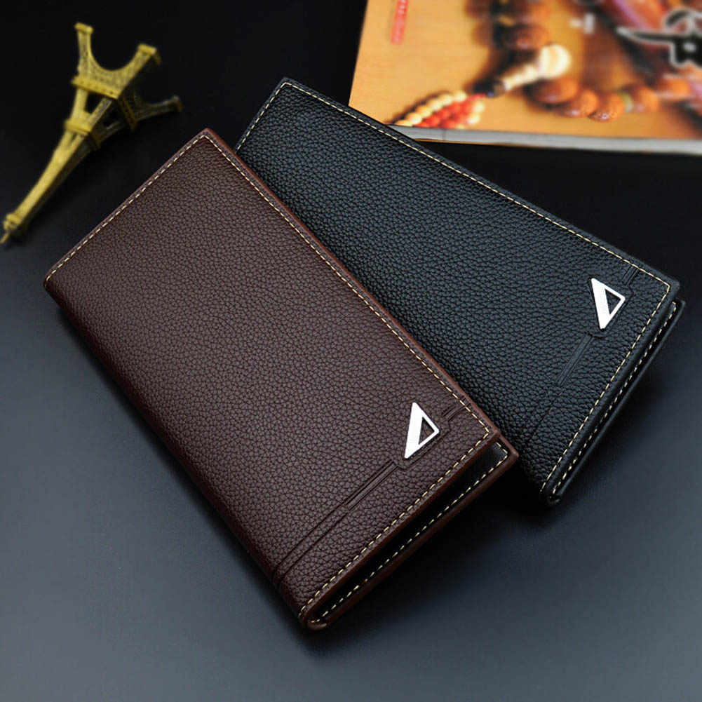 Men Long Wallets Purse Bag Mini PU Durable Fashion Soft For Coin Money Cards Holder New