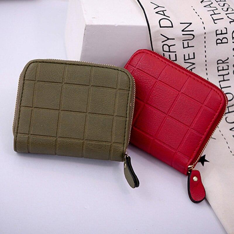 1 Pcs Women Lady Wallet Purse Short Design Zipper PU Leather For Coin Money Cards WF 668