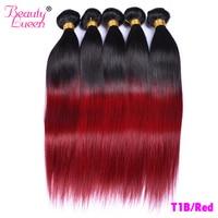 T1B/Burgundy(99J) Human Hair Straight 3 Bundles Honey Blonde Brazilian Hair Weave T1B 30(27) Red Remy Ombre Human Hair
