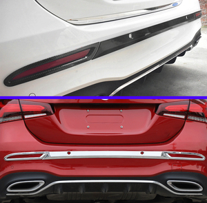 For Mercedes-Benz A-Class A180 A200 A250(V177) 2018 2019 Car Accessories ABS Chrome Rear bumper trim rear fog lamp trim
