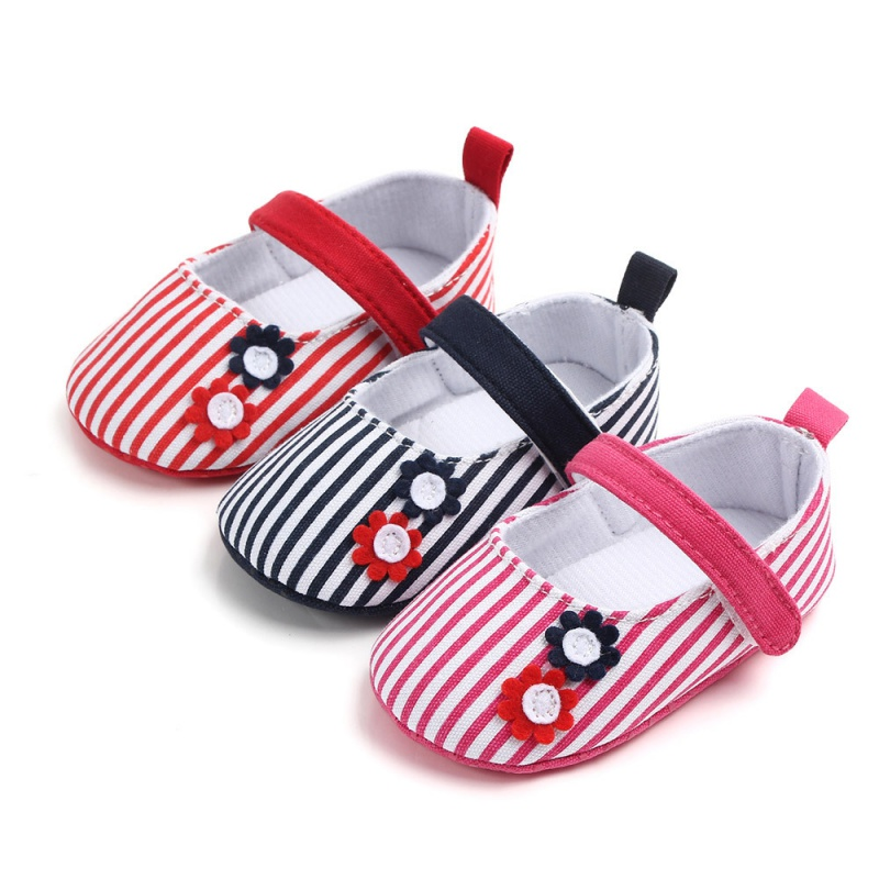 Baby Infant Shoes Boy Girl Striped Soft Sole Warm Casual Flats Shoes Newborn Toddler First Walker Sole Anti-SlipY