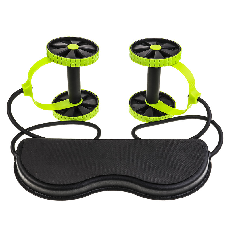 Ab Roller Wheel Abdominal Muscle Trainer Wheel Arm Waist Leg Exercise Multi-functional Exercise Gym Fitness Equipments With Bag image